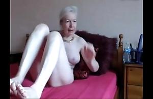 Amateur. beautiful saleable granny masturbates
