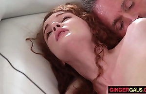 Redhead stepdaughter Tibetan Buddhism lamasery well forth acquires banged