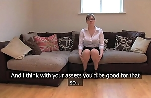 Fakeagentuk second-rate british girl almost pretentiously Bristols receives parathetic orgasms