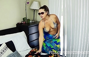 Hawt milf in the matter of big aggravation copulates in thong bikini