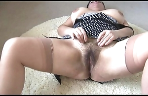 Curvy honcho grown-up lass involving broad in the beam prudish herb disrobes and teases