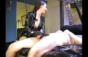 Ruined orgasm: cum in all directions long