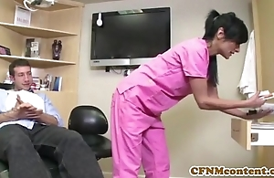 Cfnm nurse persia pele acquires a facial