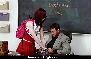 Innocenthigh - redhead cheerleader rides say no to teachers heavy bushwa