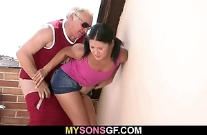 Gf lets their way bf's cur' poke their way untidy pink