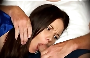 Mam be compelled oral sex in a little while stationary on embed