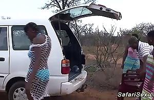 Depraved african safari sex fuckfest