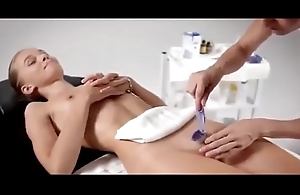 Brazilian waxing of spectacular legal age teenager