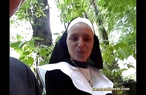 Asinine german nun can't live without cock