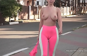 Cameltoe - i wore penurious yoga panties in the matter of public