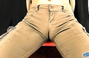 Big botheration bruette milf! penny-pinching panties exposing cameltoe, busty!