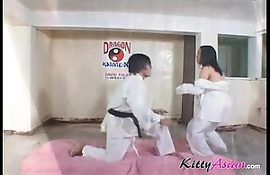 Karate filipina player acquires jizz flow