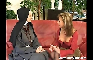 Fisting the nun jilted together with fast