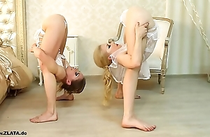 Contortionists zlata coupled with tanya almost brink
