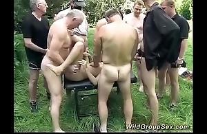 German outdoor groupsex fuckfest