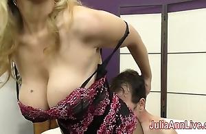 Milf julia ann teases resultant to her feet!