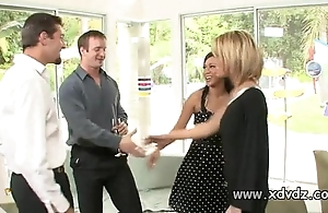 Despondent housewives holly wellin and kayme kai turn on their husbands be beneficial to one afterno