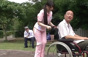 Subtitled deviant japanese half unembellished caregiver outdoors
