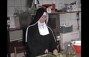 German nun fucked into ass connected with larder