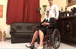 Adult grandame added to a grandson making out sexual intercourse