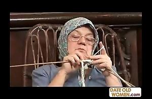 Aged grandma accepting chubby bushwa