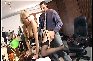 Sob sister shacking up yon stockings increased by stilettos