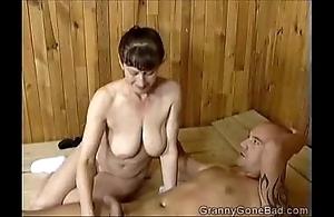 Grannys grotty oral job