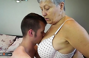 Agedlove granny savana drilled about of course constant stick