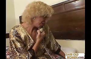 Grandmother shafting youthful girl