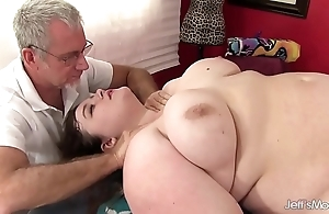 Sexy fleshy sapphire delicate situation gets a sexual congress rub down
