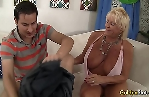 Granny mandy mcgraw seduces small fry