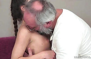 Teenie anita bellini acquires drilled hard by a old man