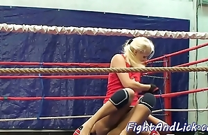 Wrestling poof spanked added to pussylicked