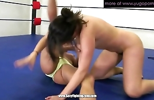 Several grown-up lesbos wrestling plus council twat soaked