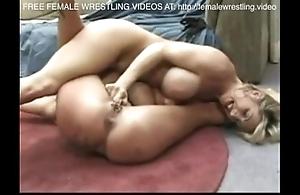 Heugh jugs lovly lesbians wrestling
